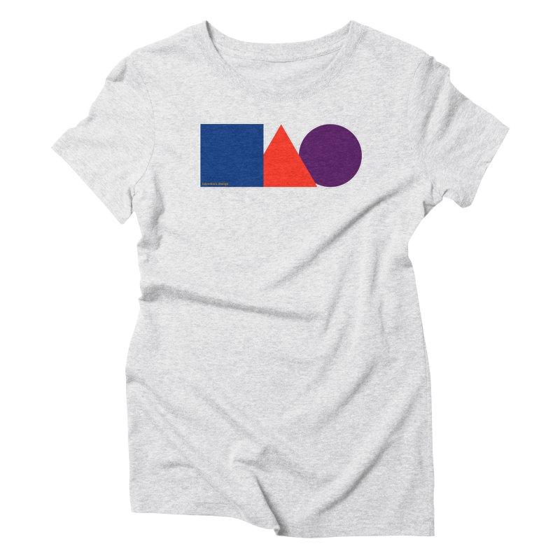 Basic Shapes Logo Women's Triblend T-Shirt by falconlara.design shop