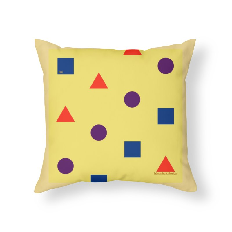 Basic Shapes Logo Home Throw Pillow by falconlara.design shop