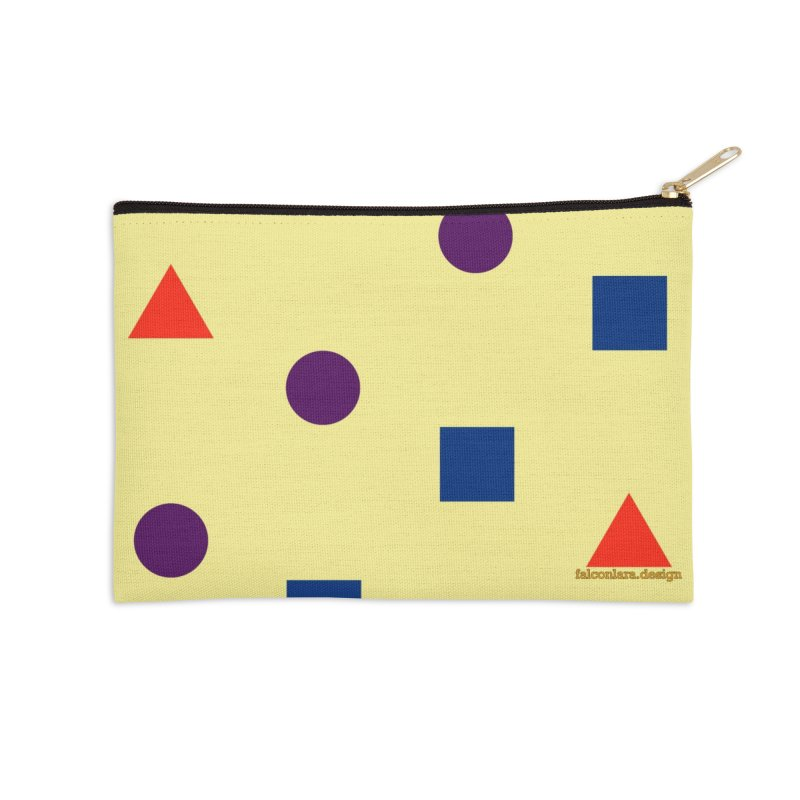 Basic Shapes Logo Accessories Zip Pouch by falconlara.design shop