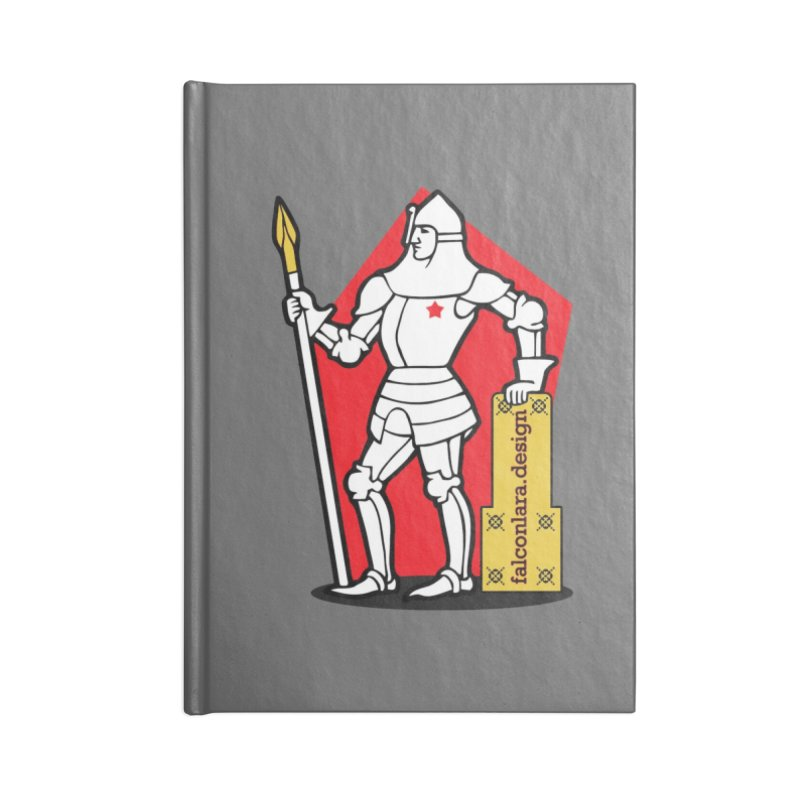 The Design Knight Accessories Lined Journal Notebook by falconlara.design shop