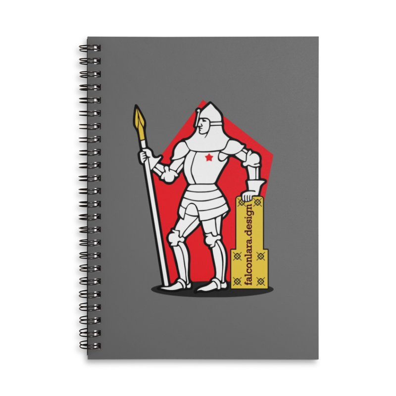The Design Knight Accessories Lined Spiral Notebook by falconlara.design shop