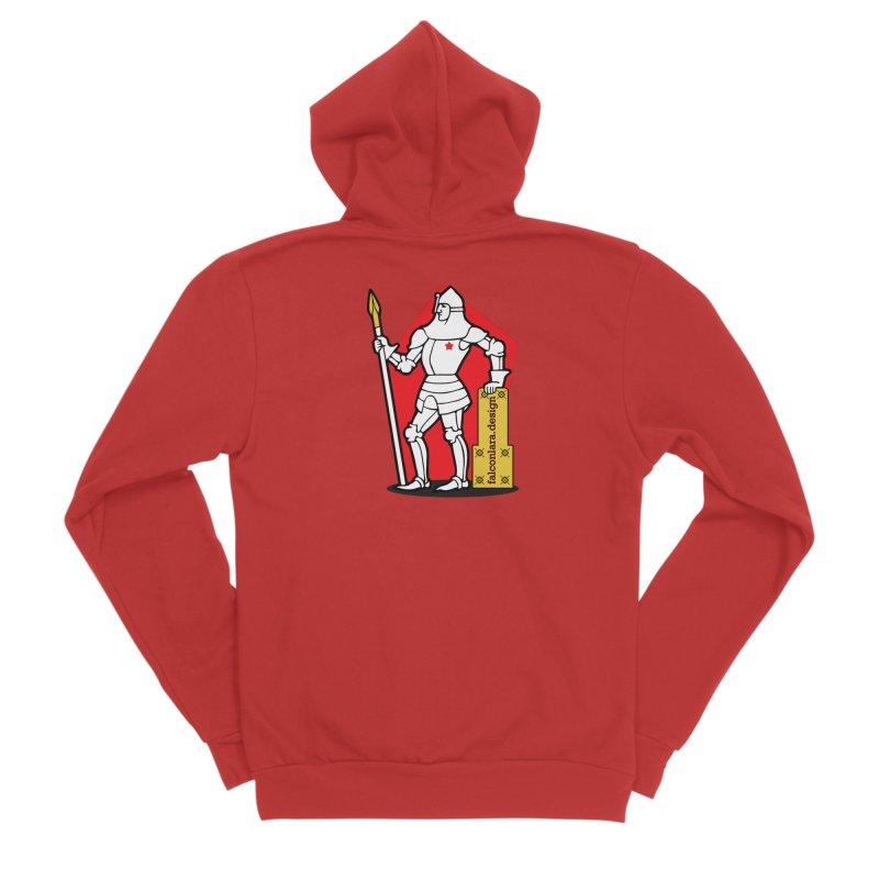 The Design Knight Men's Sponge Fleece Zip-Up Hoody by falconlara.design shop