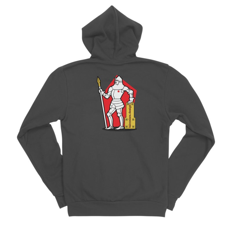 The Design Knight Men's Sponge Fleece Zip-Up Hoody by falconlara.design shop
