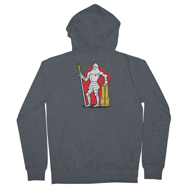 The Design Knight Men's French Terry Zip-Up Hoody by falconlara.design shop