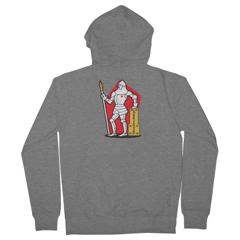 The Design Knight Men's French Terry Zip-Up Hoody by falconlara.design shop