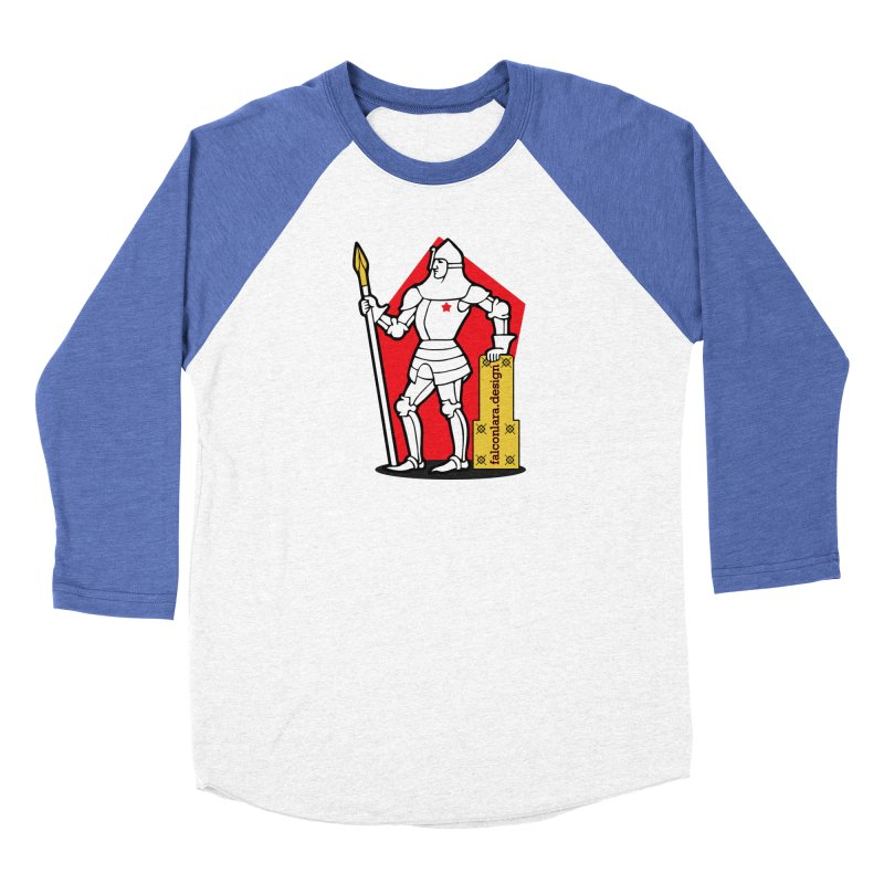 The Design Knight Women's Baseball Triblend Longsleeve T-Shirt by falconlara.design shop