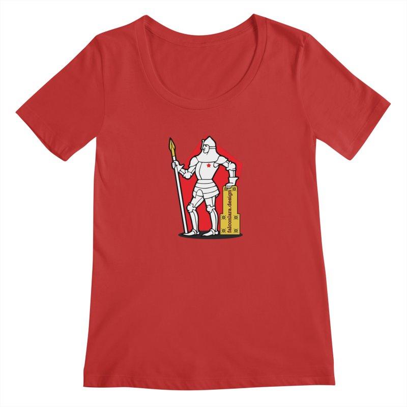 The Design Knight Women's Regular Scoop Neck by falconlara.design shop