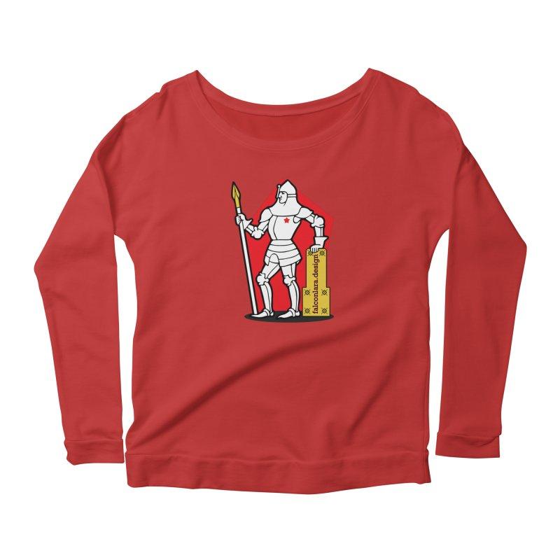 The Design Knight Women's Scoop Neck Longsleeve T-Shirt by falconlara.design shop