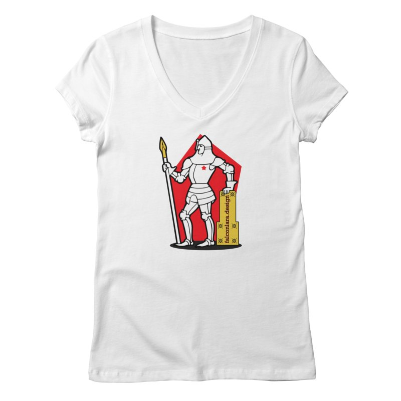 The Design Knight Women's Regular V-Neck by falconlara.design shop