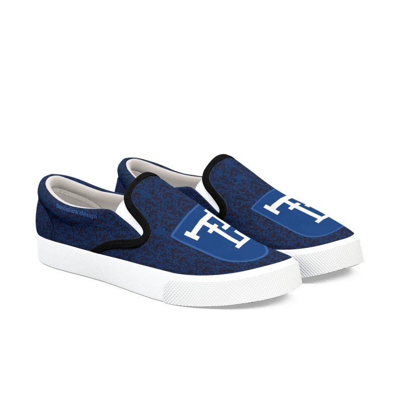 FLD Shoes Blue Women's Slip-On Shoes by falconlara.design shop