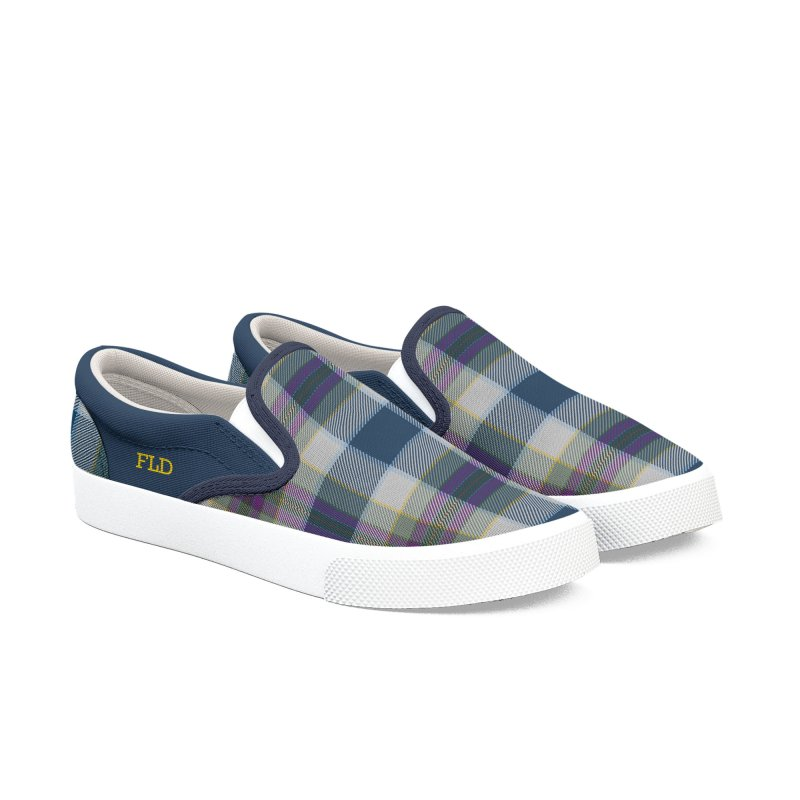 FLD Tartan Shoes Women's Slip-On Shoes by falconlara.design shop