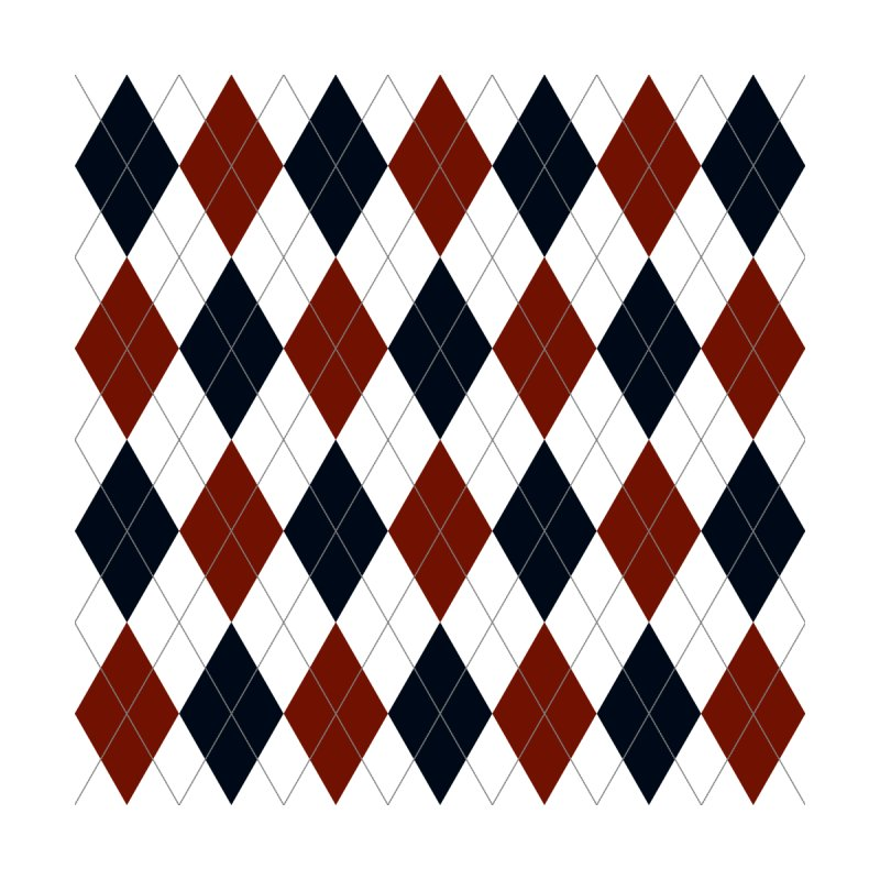 FLD Blue Red Argyle Home Blanket by falconlara.design shop