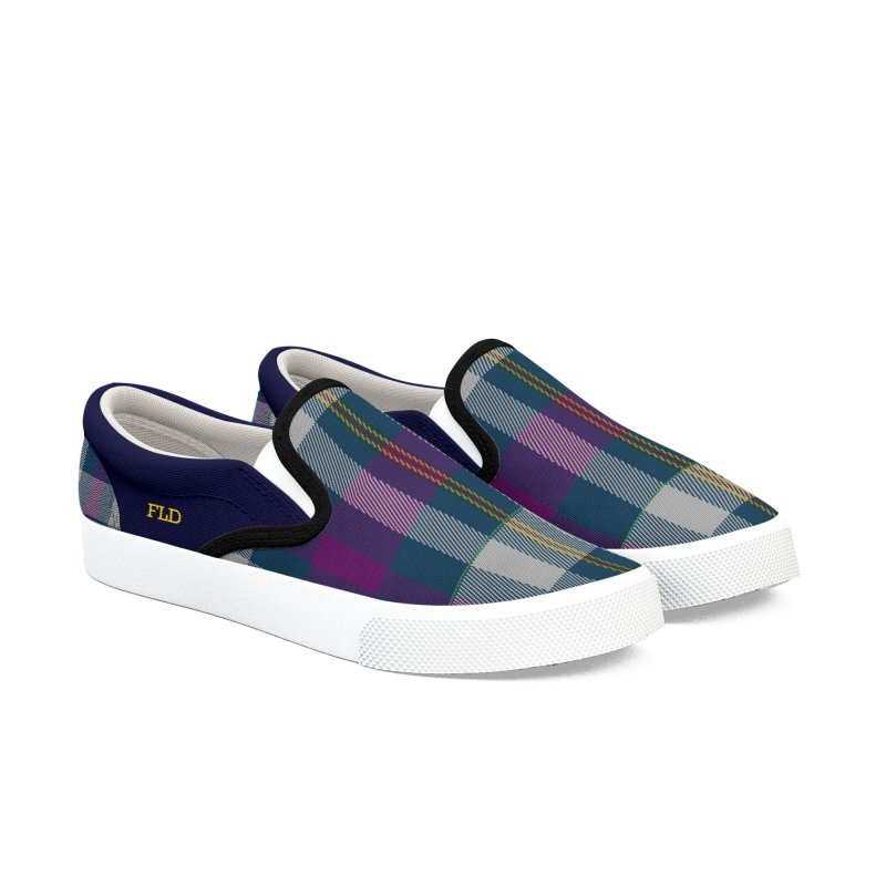 FLD Contemporary Tartan Shoes Men's Slip-On Shoes by falconlara.design shop