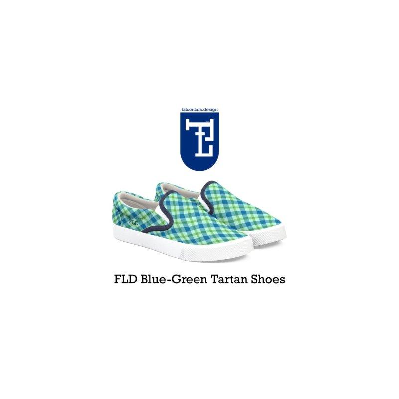 FLD Blue-Green Tartan Shoes by falconlara.design shop