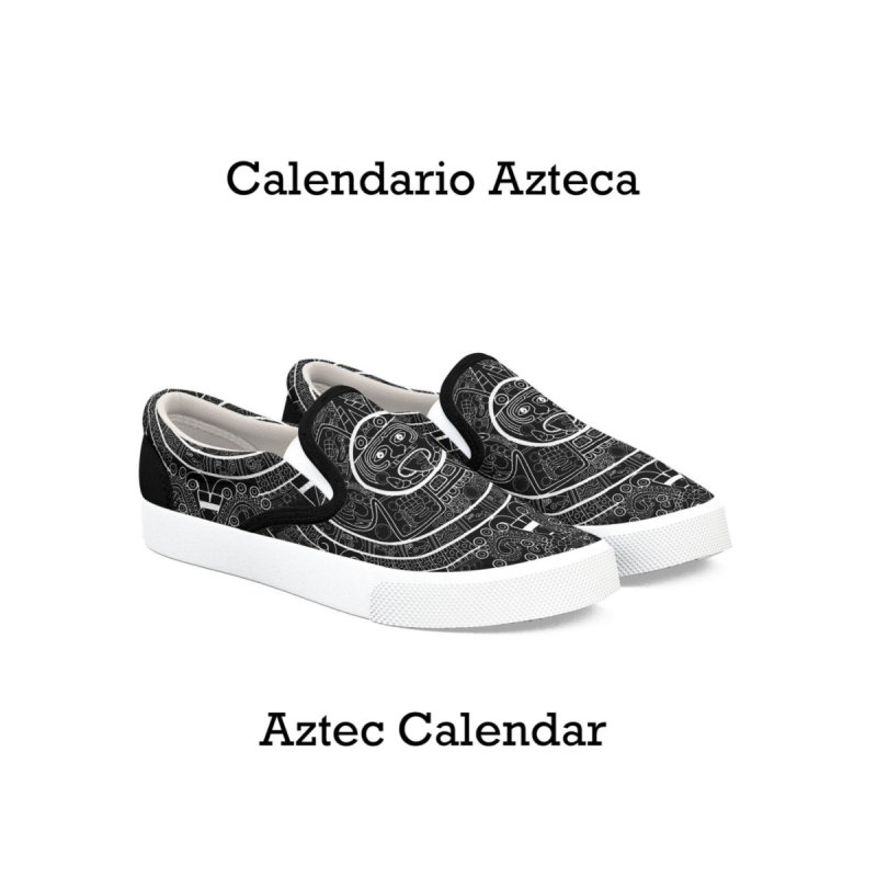 Aztec Calendar Shoes   by falconlara.design shop