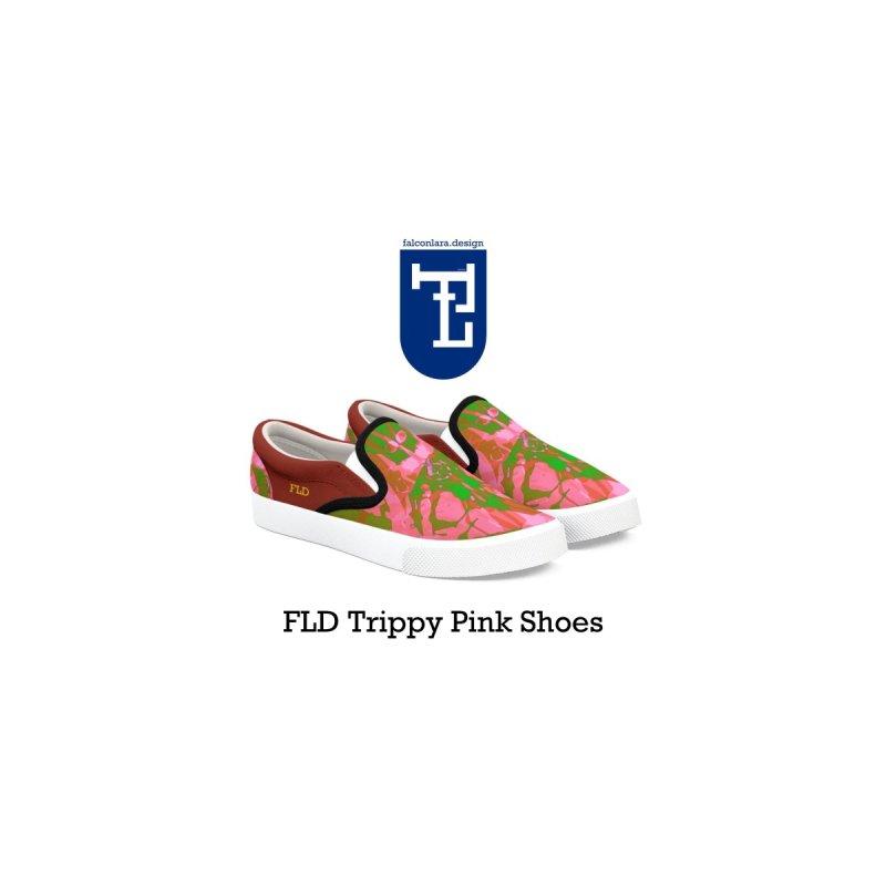 Trippy Pink Shoes by falconlara.design shop