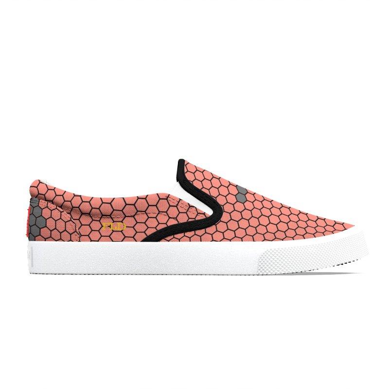 FLD Coral Honeycomb Shoes Men's Shoes by falconlara.design shop