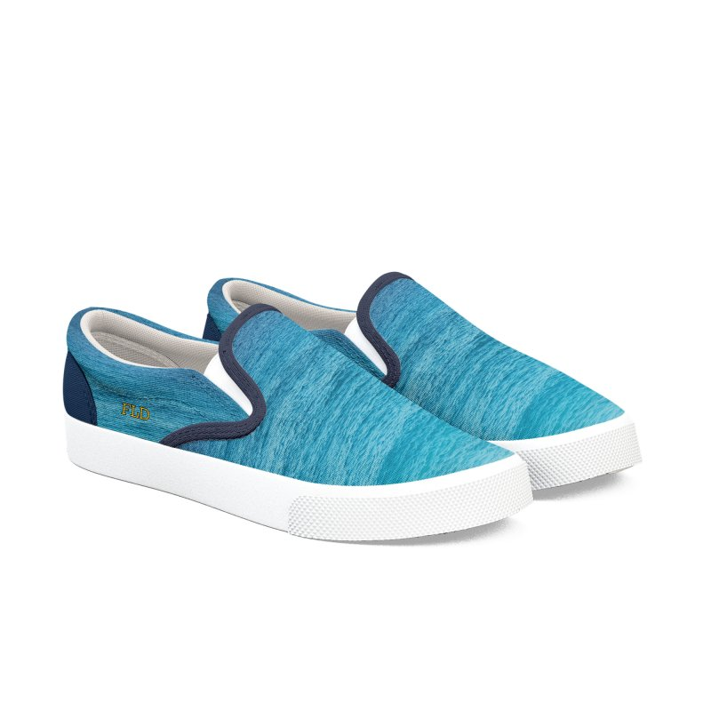 FLD Caribbean Blue Shoes Men's Slip-On Shoes by falconlara.design shop