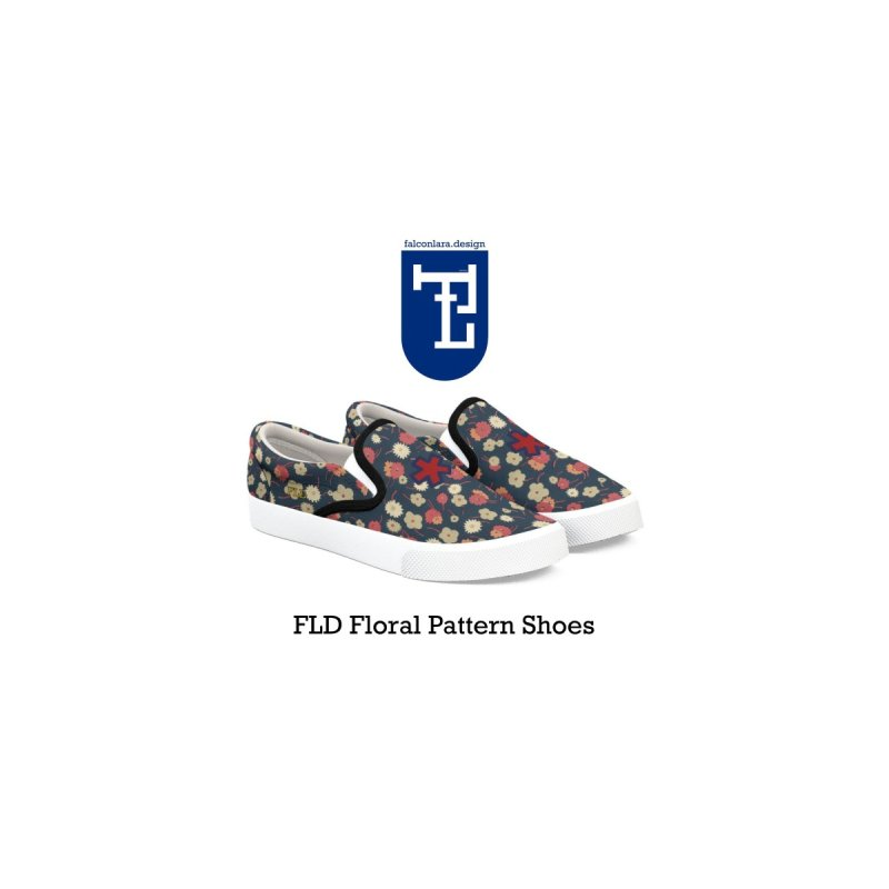 FLD Floral Pattern Shoes by falconlara.design shop
