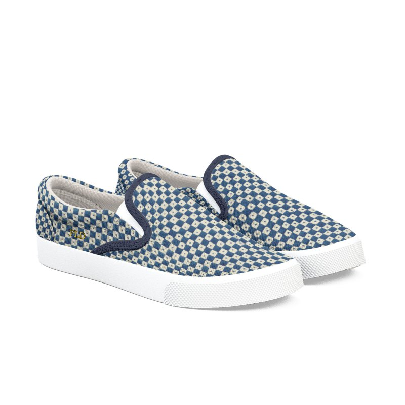 FLD Dutch Chessboard Shoes Women's Slip-On Shoes by falconlara.design shop