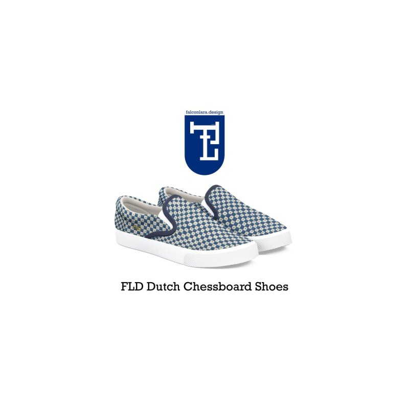 FLD Dutch Chessboard Shoes by falconlara.design shop