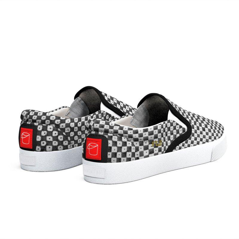 FLD Dutch Chessboard Black Shoes Men's Shoes by falconlara.design shop