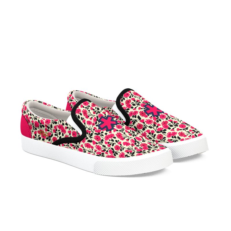FLD Floral Pattern 2 Shoes Women's Slip-On Shoes by falconlara.design shop