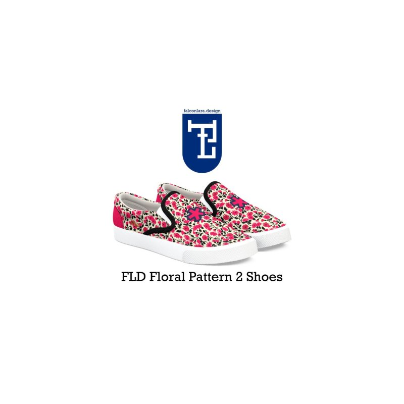 FLD Floral Pattern 2 Shoes by falconlara.design shop