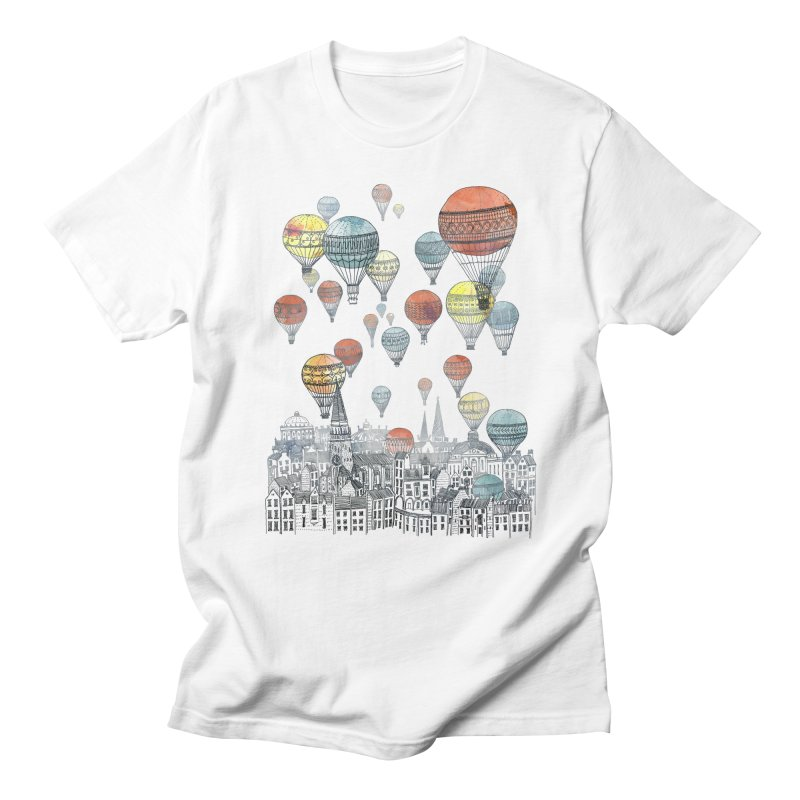 Voyages Over Edinburgh Men's T-Shirt by fleck's Artist Shop