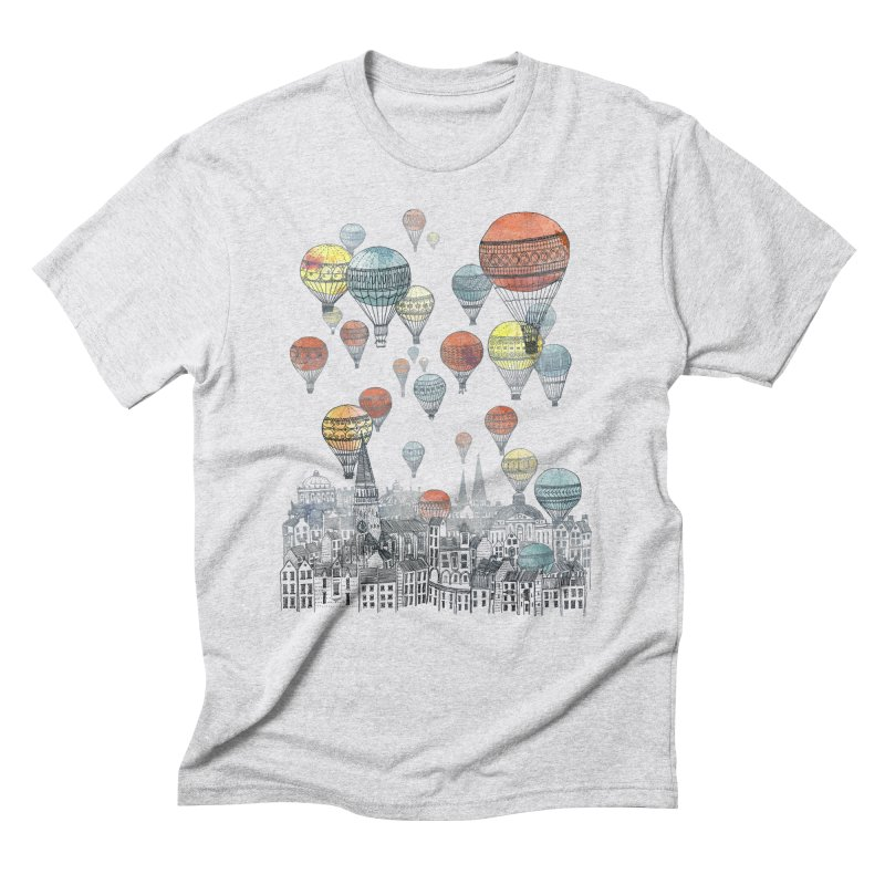 Voyages Over Edinburgh Men's Triblend T-shirt by fleck's Artist Shop