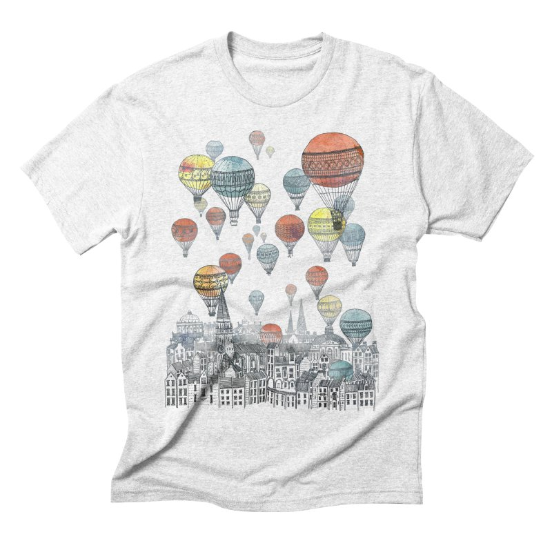 Voyages Over Edinburgh Men's Triblend T-shirt by fleck's Artist Shop
