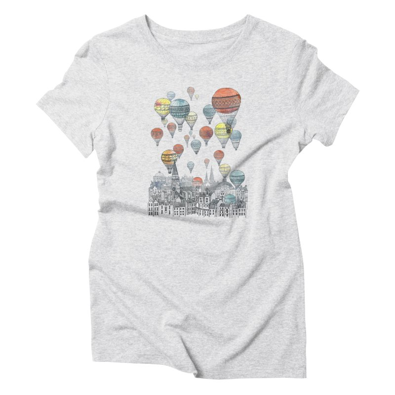 Voyages Over Edinburgh Women's Triblend T-shirt by fleck's Artist Shop