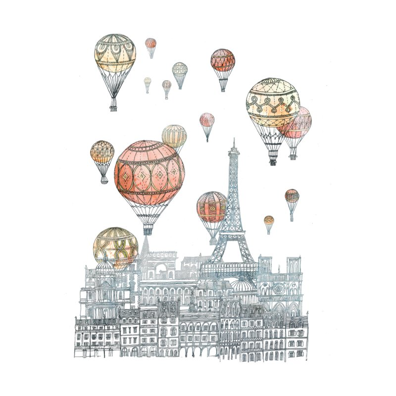 Voyages Over Paris by fleck's Artist Shop