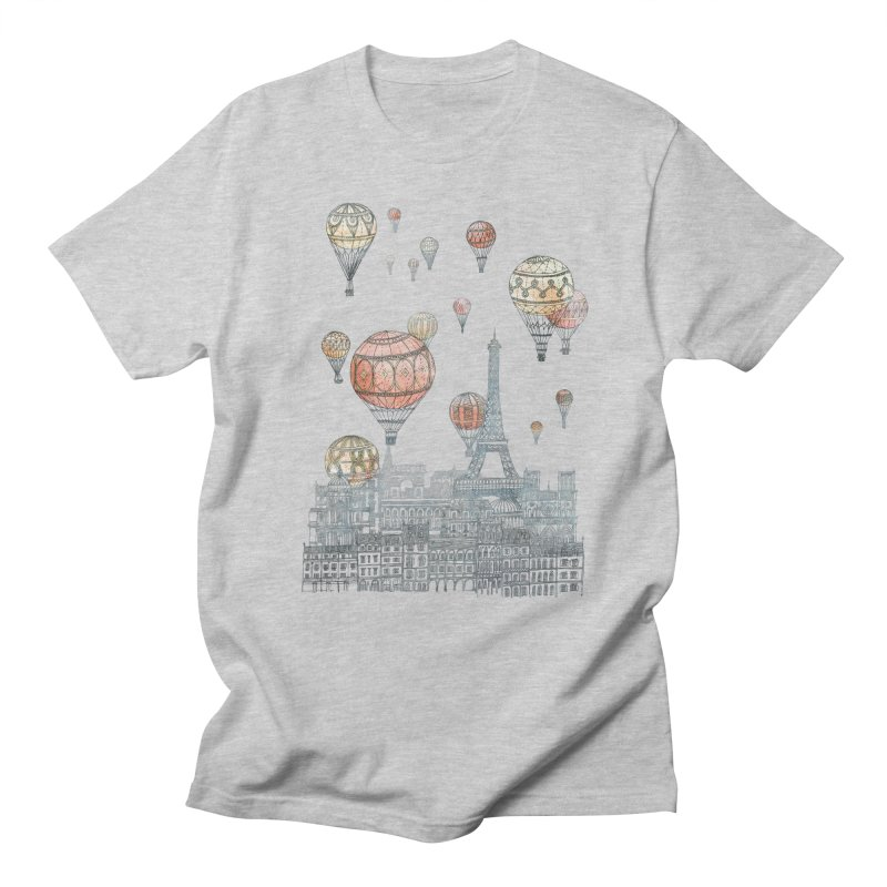 Voyages Over Paris Men's T-Shirt by fleck's Artist Shop