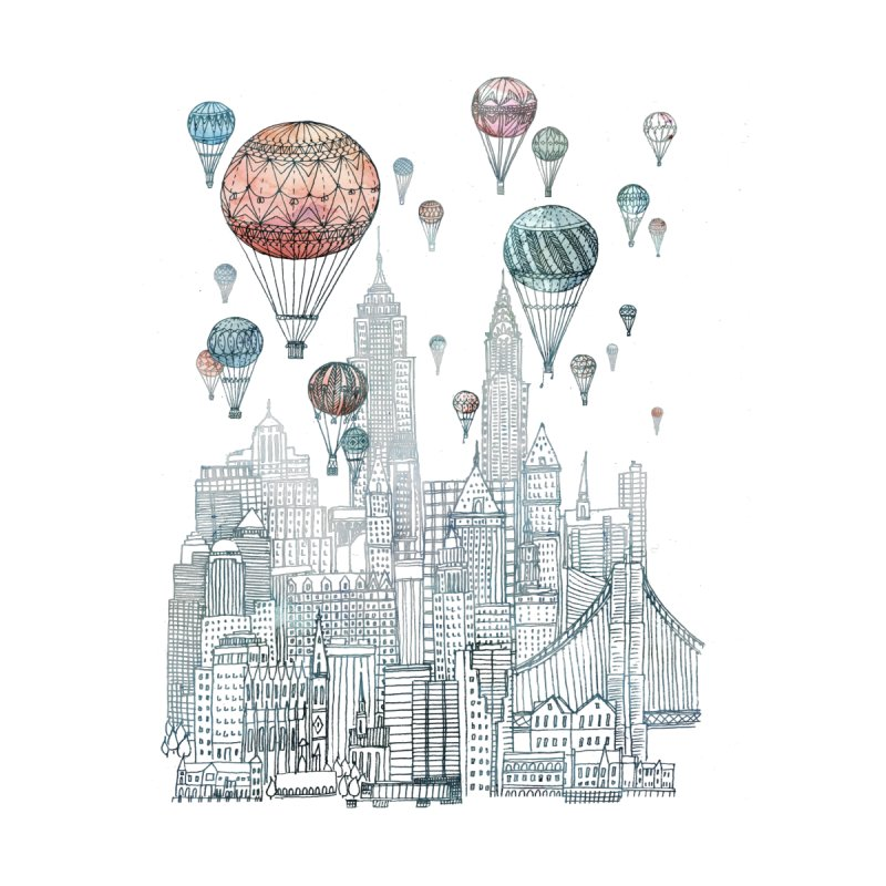 Voyages Over New York by fleck's Artist Shop