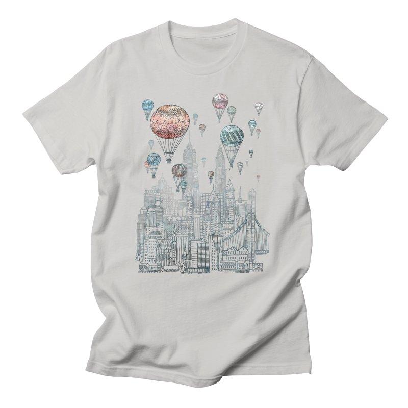 Voyages Over New York Men's T-shirt by fleck's Artist Shop