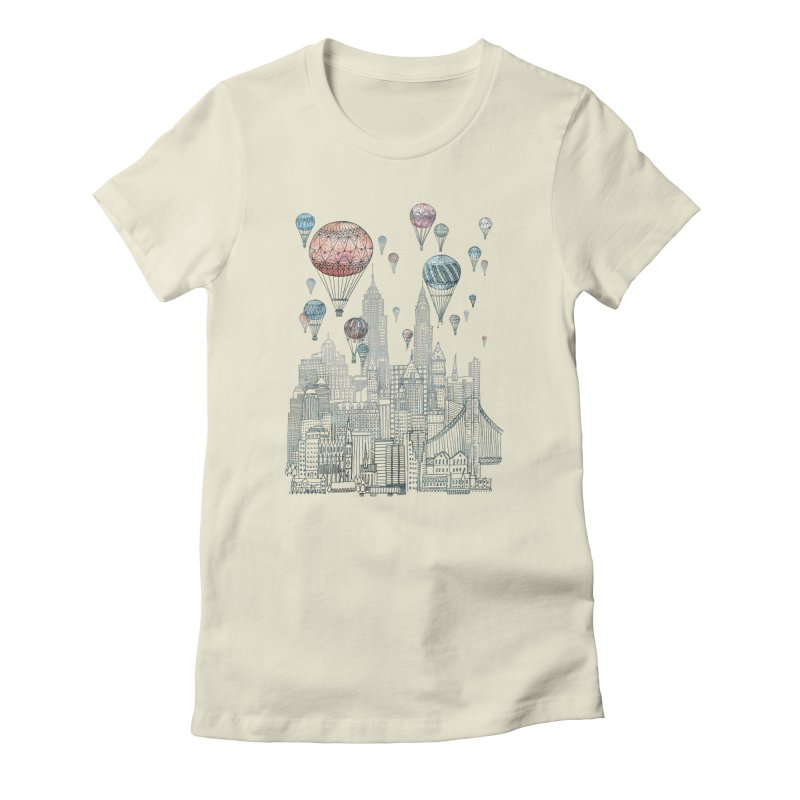 Voyages Over New York Women's Fitted T-Shirt by fleck's Artist Shop
