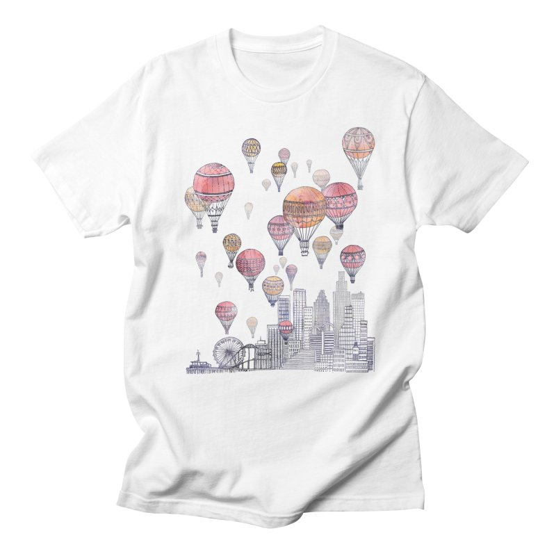 Voyages Over Santa Monica Men's T-Shirt by fleck's Artist Shop