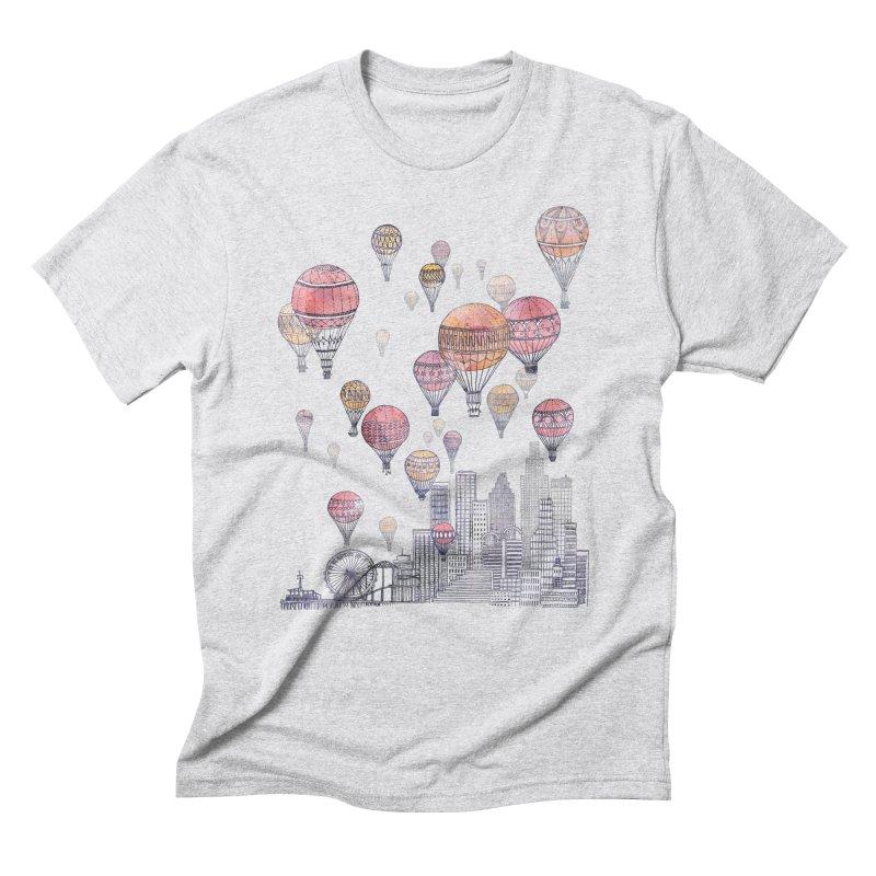 Voyages Over Santa Monica Men's Triblend T-shirt by fleck's Artist Shop
