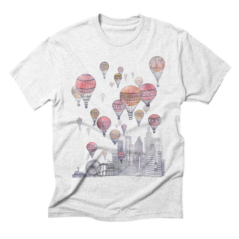 Voyages Over Santa Monica Men's Triblend T-shirt by fleck's Artist Shop