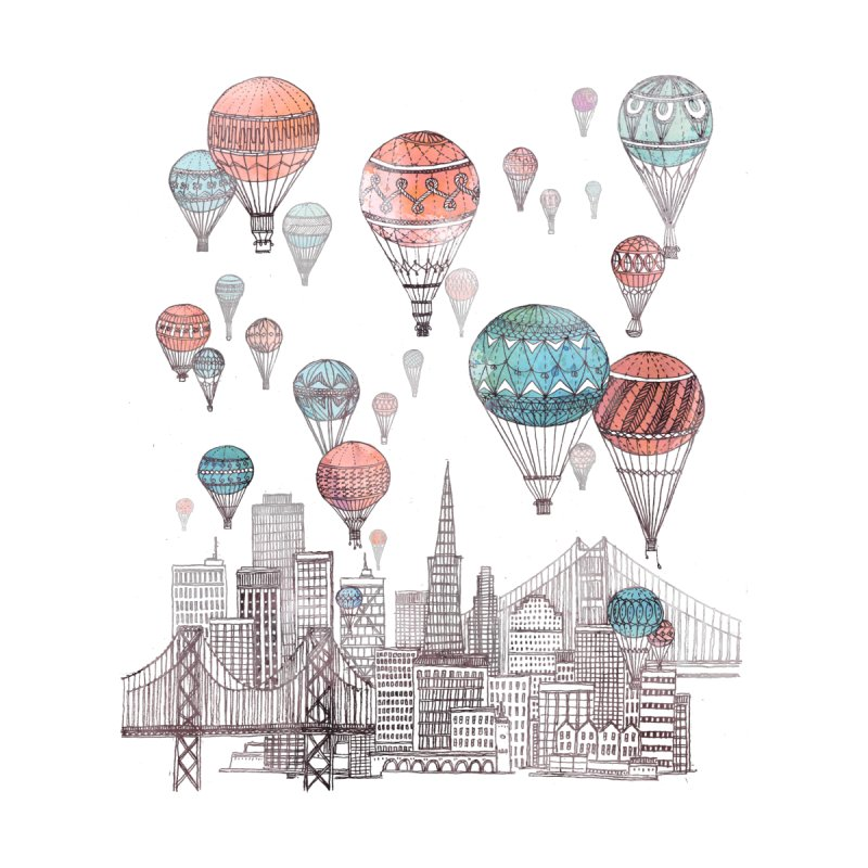 Voyages Over San Francisco by fleck's Artist Shop