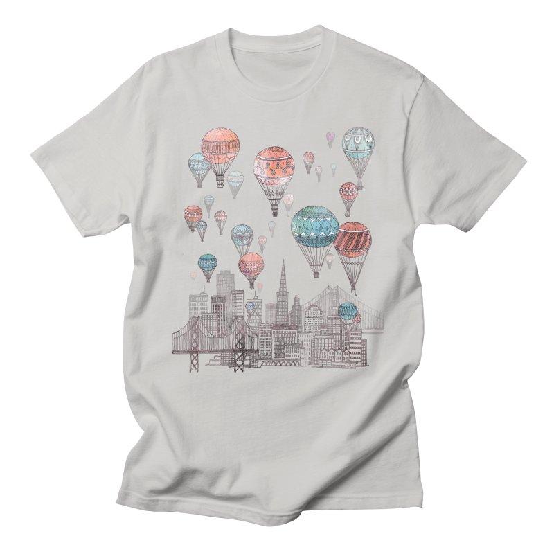 Voyages Over San Francisco Men's T-shirt by fleck's Artist Shop