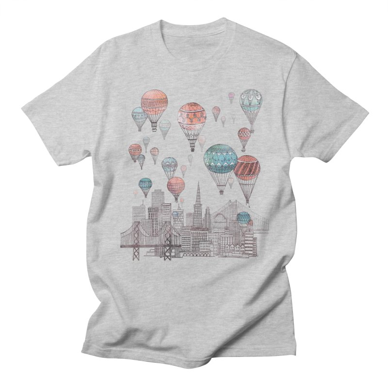 Voyages Over San Francisco Men's T-Shirt by fleck's Artist Shop