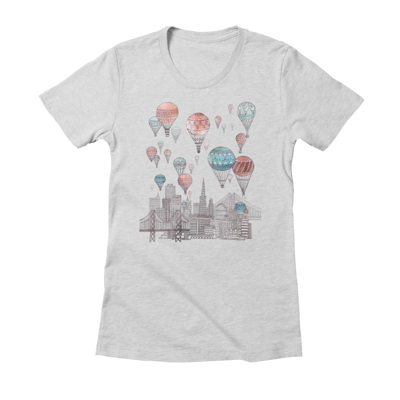 Voyages Over San Francisco Women's Fitted T-Shirt by fleck's Artist Shop