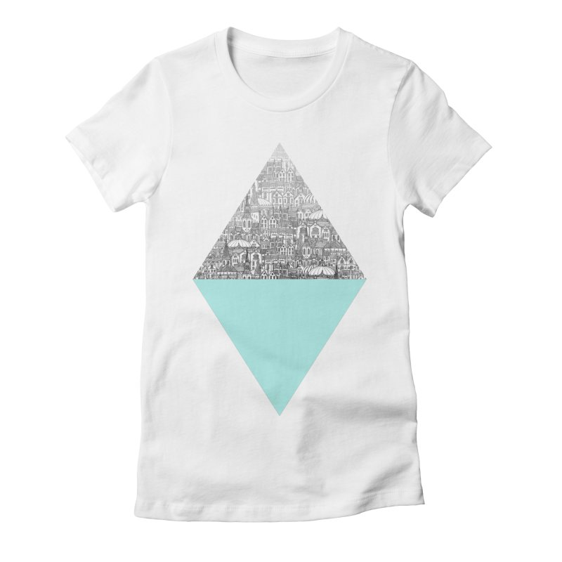 Diamond Women's Fitted T-Shirt by fleck's Artist Shop