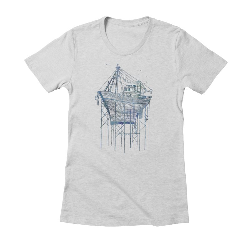 Dry Dock Women's Fitted T-Shirt by fleck's Artist Shop