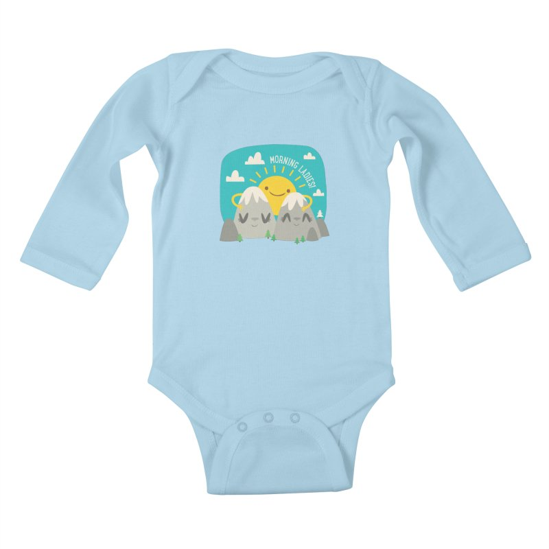 Sunrise Kids Baby Longsleeve Bodysuit by flim's Artist Shop