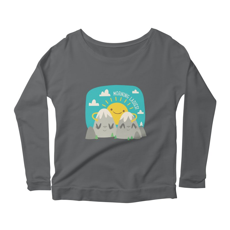 Sunrise Women's Longsleeve Scoopneck  by flim's Artist Shop