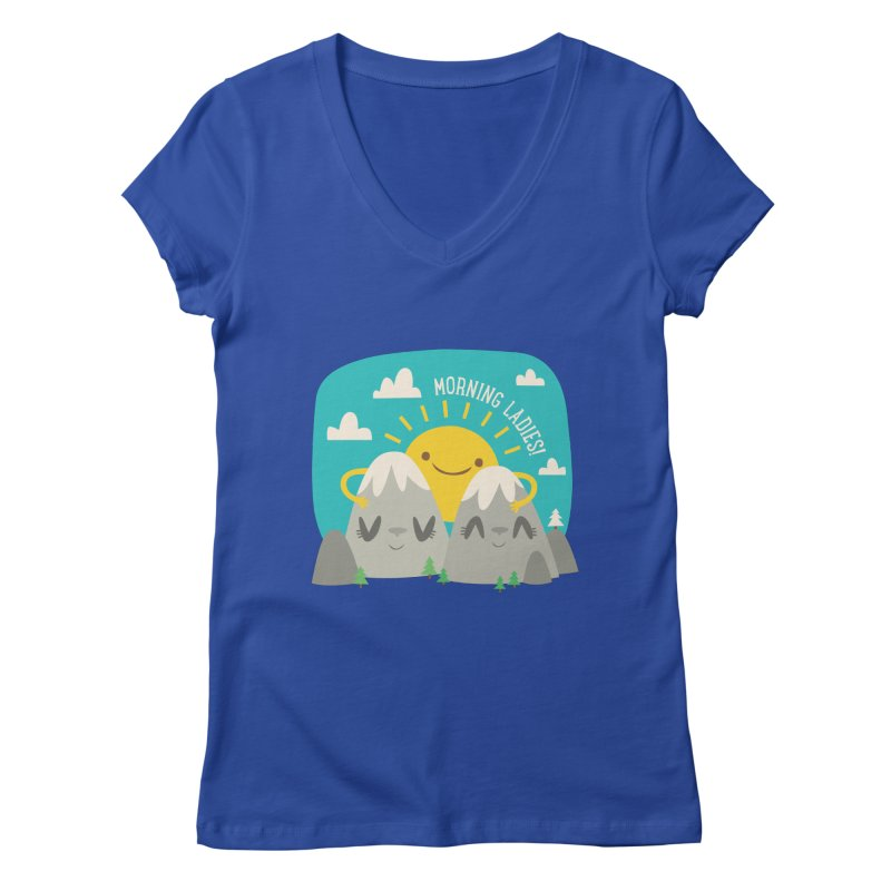 Sunrise Women's V-Neck by flim's Artist Shop