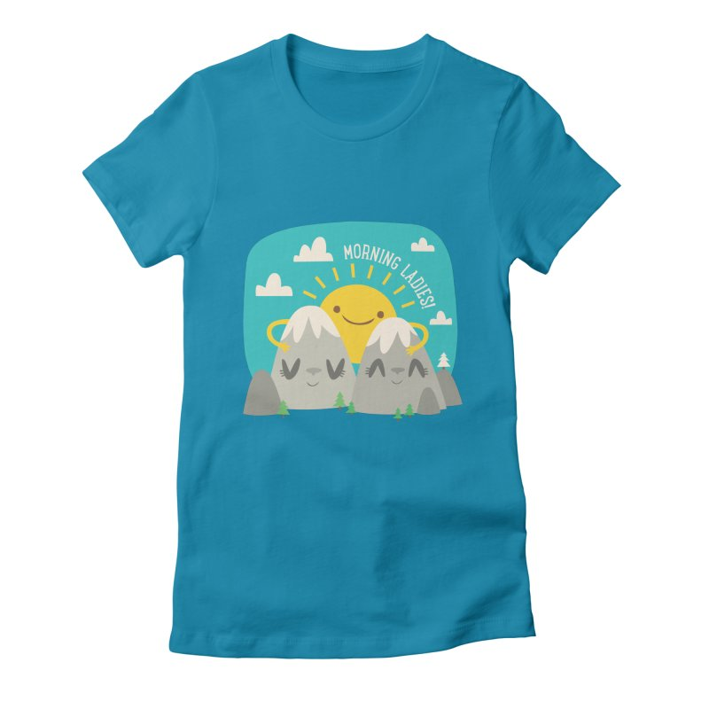 Sunrise Women's Fitted T-Shirt by flim's Artist Shop